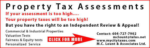 How Much Is Tax In Bc >> M C Lount Associates Ltd Property Tax Assessment Appeals Are